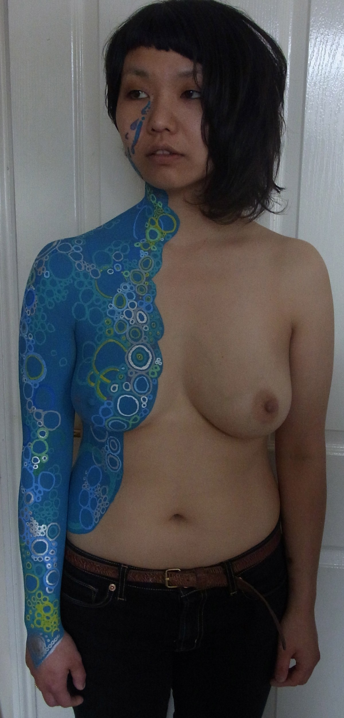 Body Painting blue